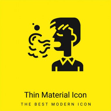 Bad Breath minimal bright yellow material icon stock vector