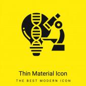 Analyze minimal bright yellow material icon