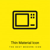 Velká mikrovlnná trouba minimální jasně žlutý materiál ikona