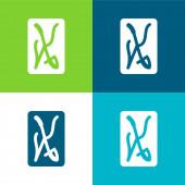 Ace Of Swords Flat four color minimal icon set