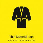 Župan minimální jasně žlutý materiál ikona