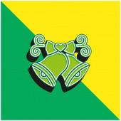 Zvony Zelené a žluté moderní 3D vektorové logo