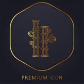 Bambus goldene Linie Premium-Logo oder Symbol