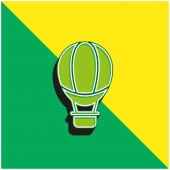 Léggömb Zöld és sárga modern 3D vektor ikon logó