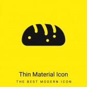 Chléb minimální jasně žlutý materiál ikona