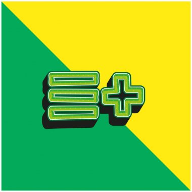 Add To List Hand Drawn Interface Symbol Green and yellow modern 3d vector icon logo stock vector