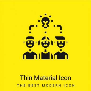 Brainstorm minimal bright yellow material icon stock vector