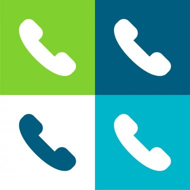 Answer Call Flat four color minimal icon set stock vector
