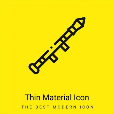 Bazooka minimal bright yellow material icon stock vector