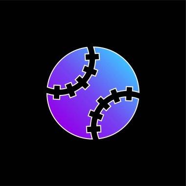 Baseball Ball blue gradient vector icon stock vector
