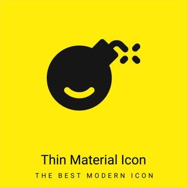 Bomb minimal bright yellow material icon stock vector