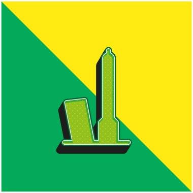 Bologna Green and yellow modern 3d vector icon logo stock vector