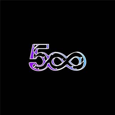 500 Sketched Social Logo With Infinite Symbol blue gradient vector icon stock vector