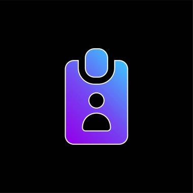 Badge blue gradient vector icon stock vector