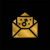 Junge vergoldet metallisches Symbol oder Logo-Vektor