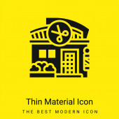 Barber Shop minimal bright yellow material icon