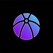 Golyó kék gradiens vektor ikon