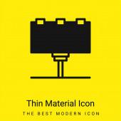 Plakatwand minimales leuchtend gelbes Materialsymbol
