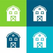 Stodola Byt čtyři barvy minimální ikona nastavena