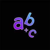 Alphabet blue gradient vector icon