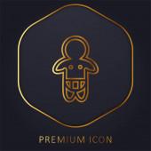 Baba viselő pelenka csak vázlatos arany vonal prémium logó vagy ikon