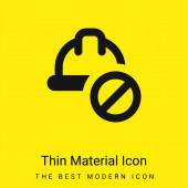 Minimale leuchtend gelbe Materialsymbole verboten