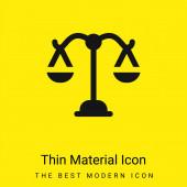 Balance minimal bright yellow material icon
