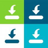 Bar Flat four color minimal icon set