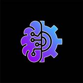 Artificial Intelligence blue gradient vector icon