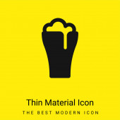 Beer minimal bright yellow material icon