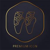 Balet Boty zlaté linie prémie logo nebo ikona