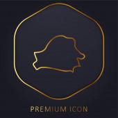 Bělorusko Země zlatá čára prémie logo nebo ikona