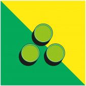 Munition Grünes und gelbes modernes 3D-Vektor-Symbol-Logo