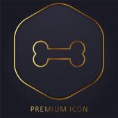 Bone Golden Line Premium-Logo oder Symbol