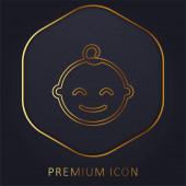 Baby goldene Linie Premium-Logo oder Symbol