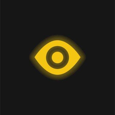 Black Eye yellow glowing neon icon stock vector