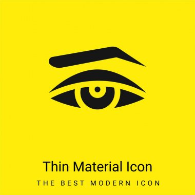 Appearance minimal bright yellow material icon stock vector