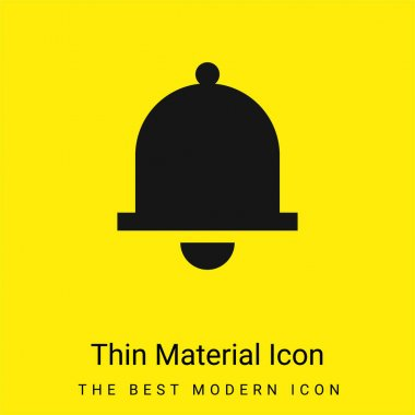 Bell minimal bright yellow material icon stock vector