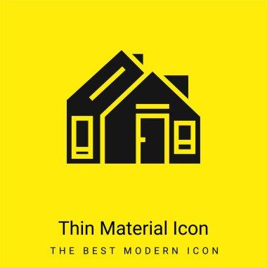 Address minimal bright yellow material icon stock vector