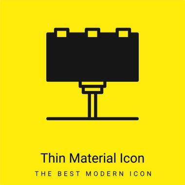 Reklam panosu en az sarı malzeme simgesi