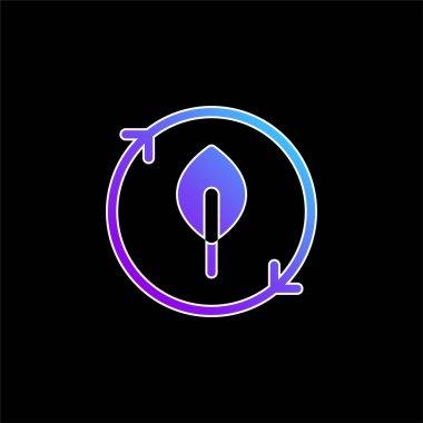 Bio blue gradient vector icon stock vector