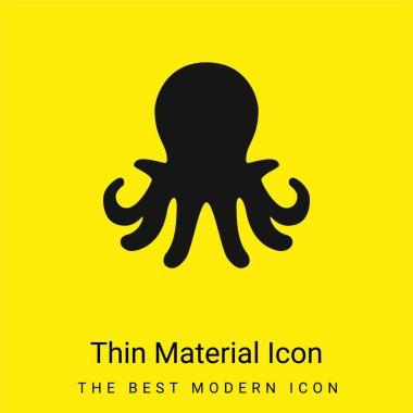 Aquarium Octopus minimal bright yellow material icon stock vector