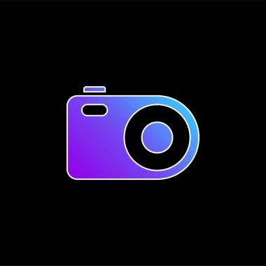 Analogical Photo Camera blue gradient vector icon stock vector