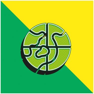 Arctic Green and yellow modern 3d vector icon logo stock vector