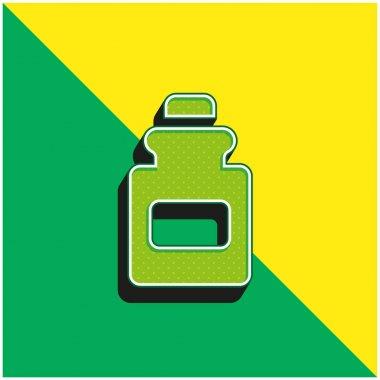 Bottle Green and yellow modern 3d vector icon logo stock vector