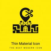 Barber Shop minimální jasně žlutý materiál ikona