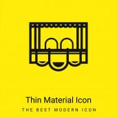Kastensitz minimales helles gelbes Materialsymbol
