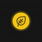 Biologicky žlutá zářící neonová ikona