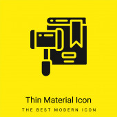 Auction minimal bright yellow material icon