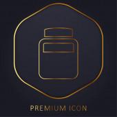 Flasche Chemischer Elemente goldene Linie Premium-Logo oder Symbol